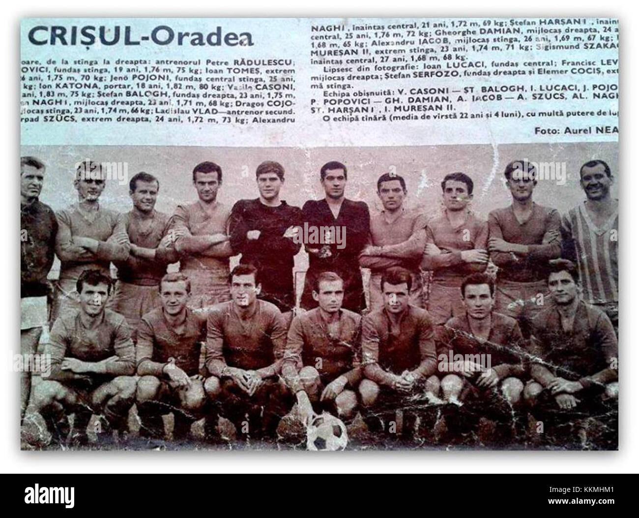 FC Bihor 1966-1967 - Stock Image