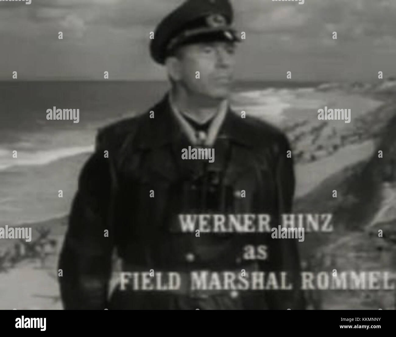 Werner Hinz in The Longest Day trailer - Stock Image
