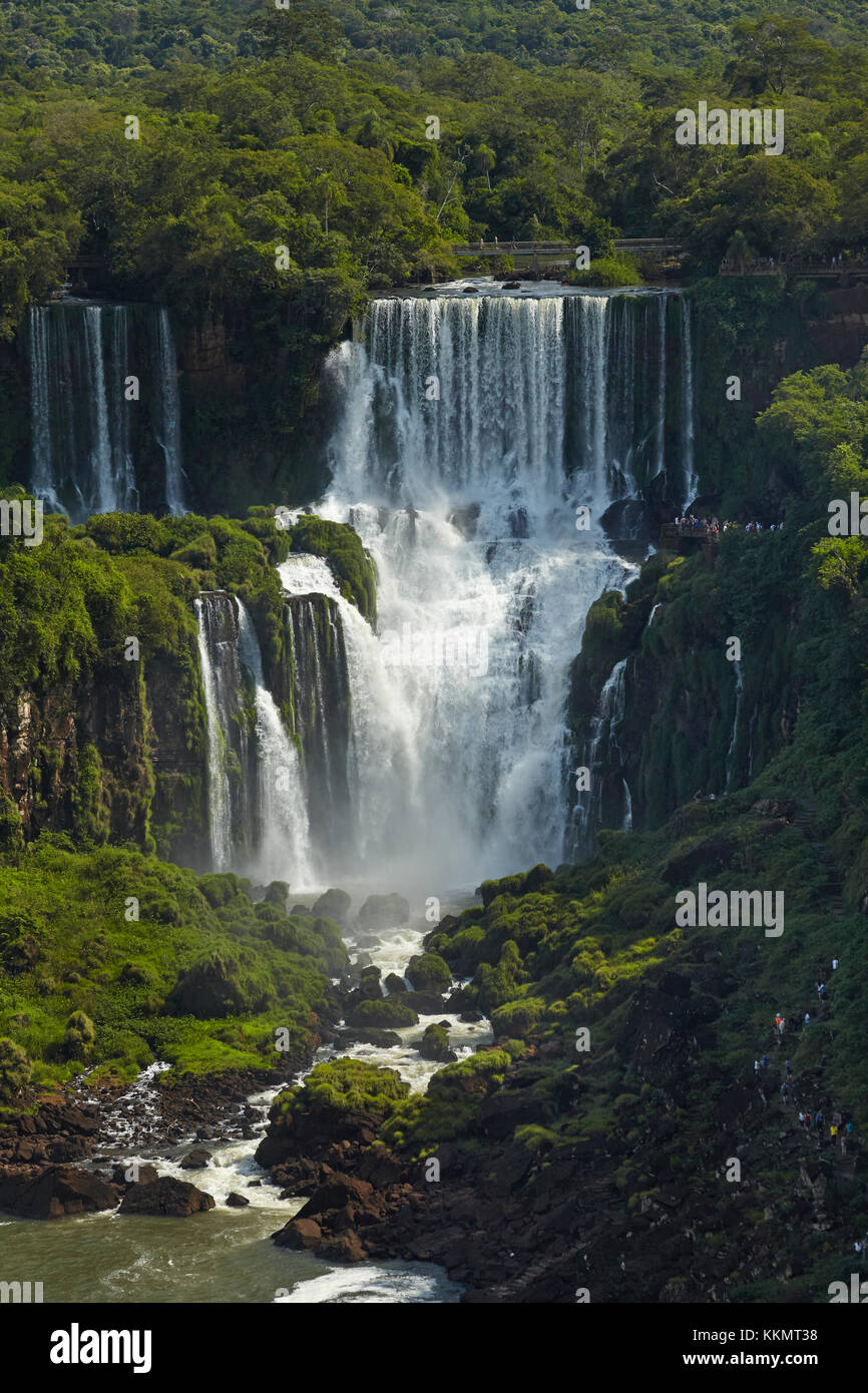 Iguazu Falls, Argentina, seen from Brazil side, South America - Stock Image
