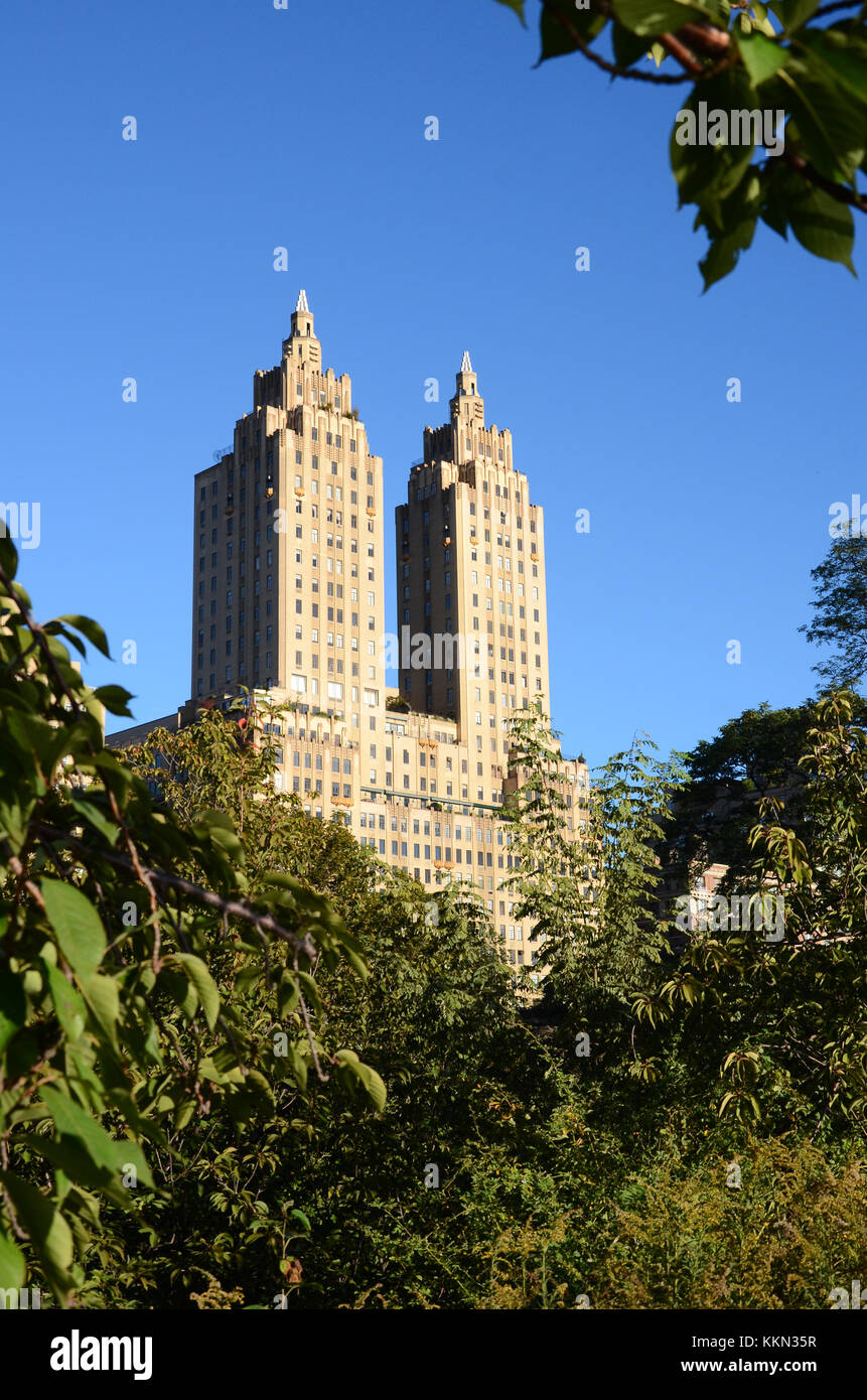 The San Remo building on Central Park West, New York City - Stock Image