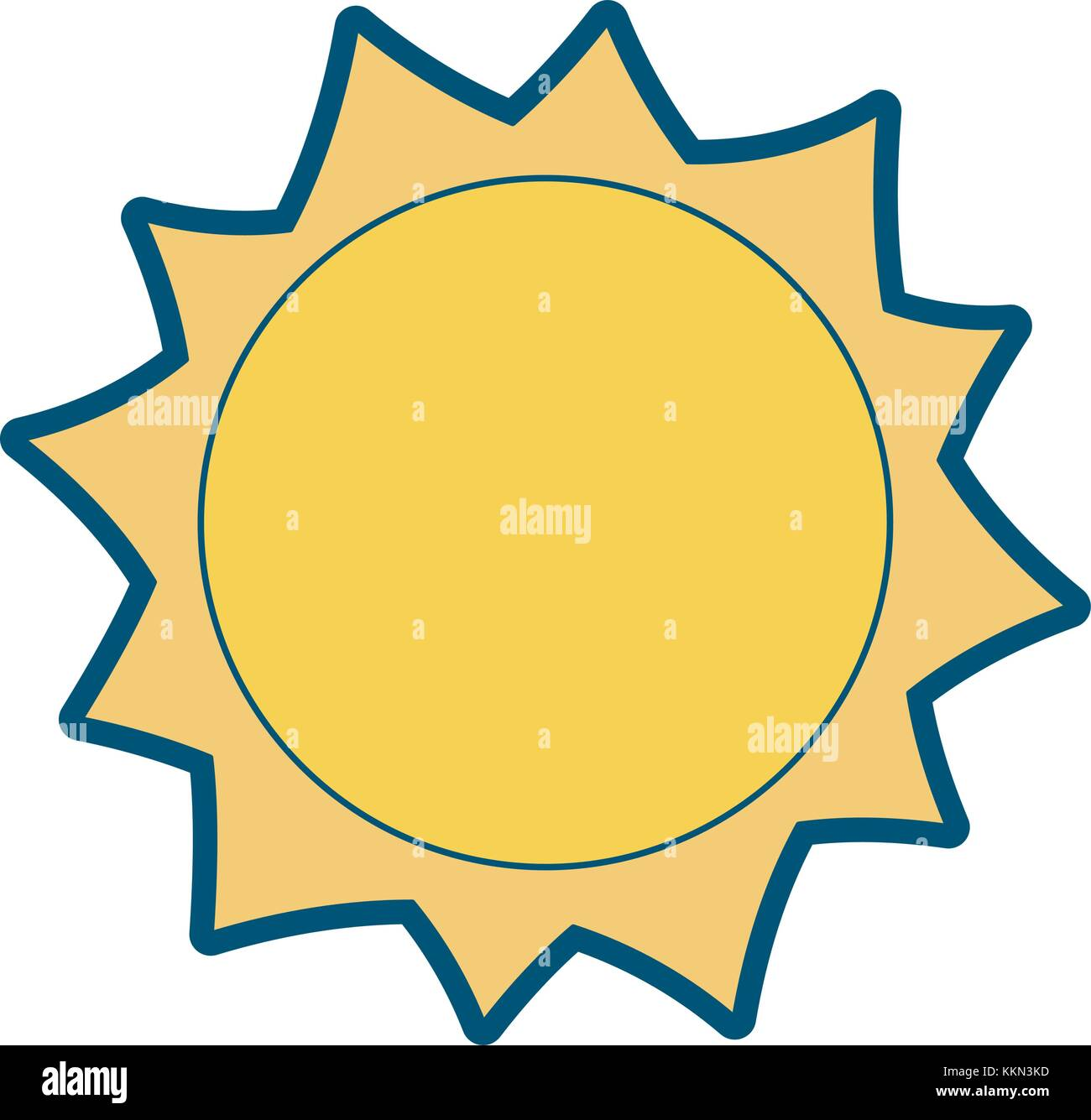 sun hot weather day sky natural - Stock Vector