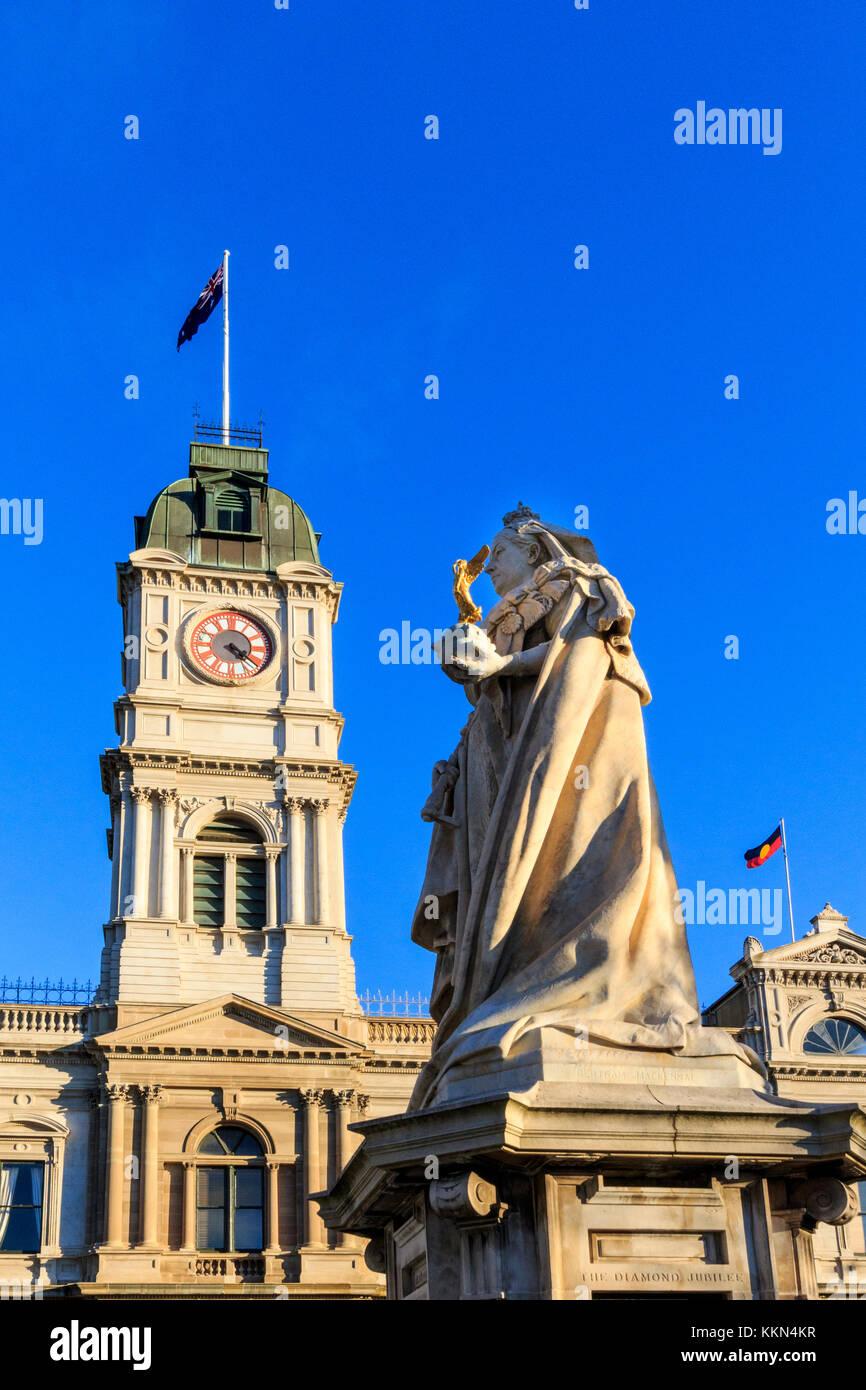 Australia, Ballarat, Lydiard Street, Sir Edgar Bertram Mackennal, Sturt Street, Victoria, the diamond jubilee *** - Stock Image