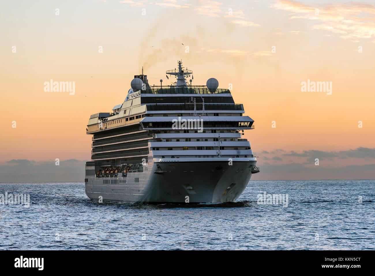 Cruise ship at sea. - Stock Image
