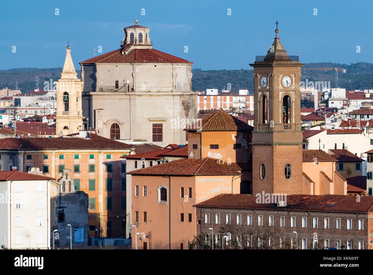 Old city Livorno, Tuscany, Italy. - Stock Image