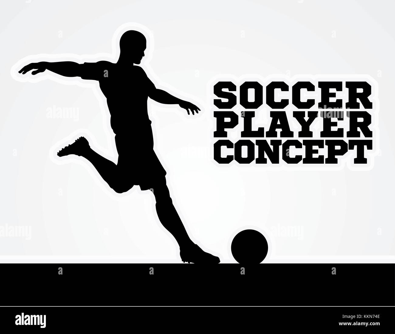 Soccer Football Player Concept Silhouette - Stock Image