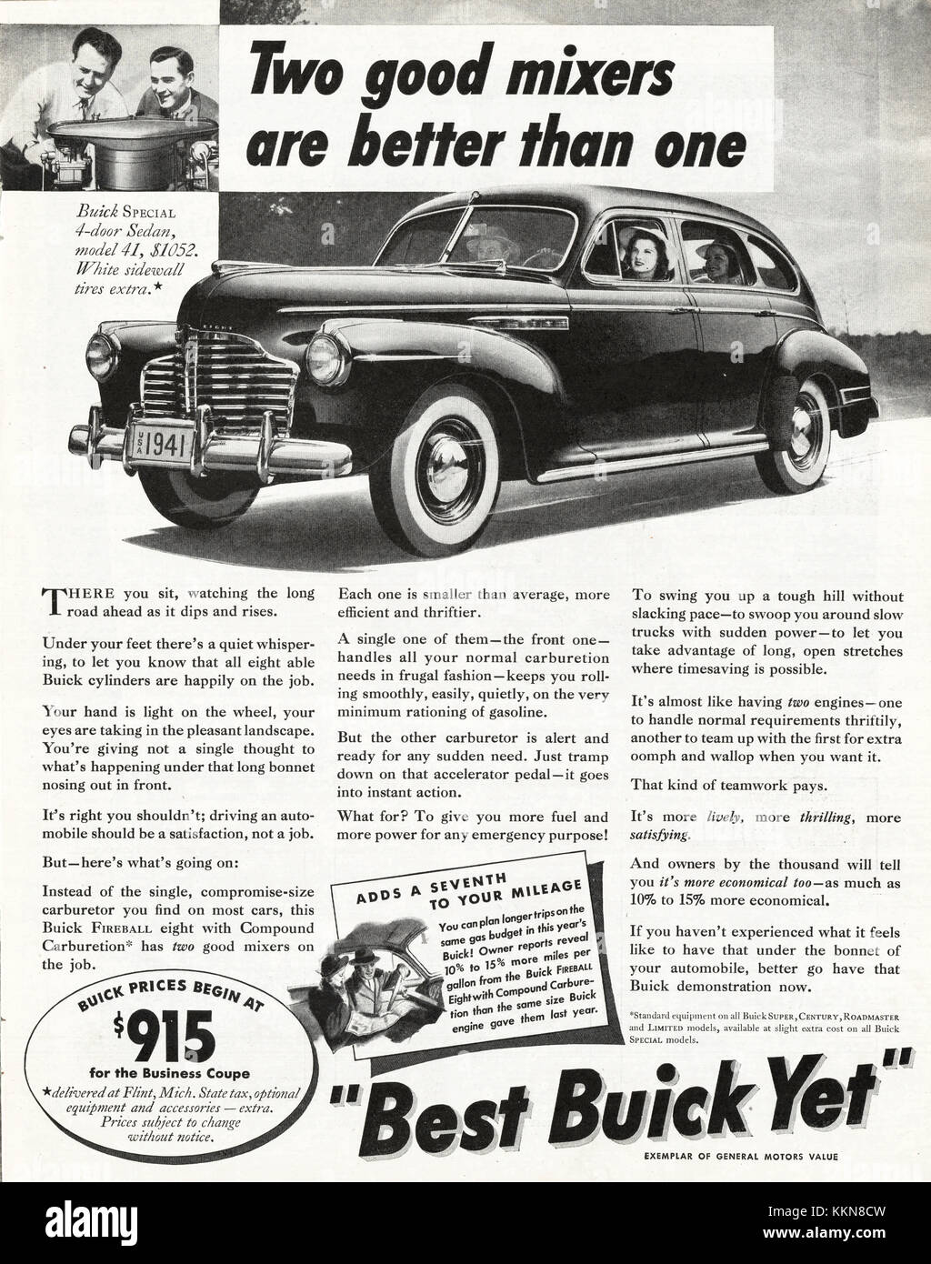 1941 U.S. Magazine Buick Car Advert Stock Photo: 167039401 - Alamy