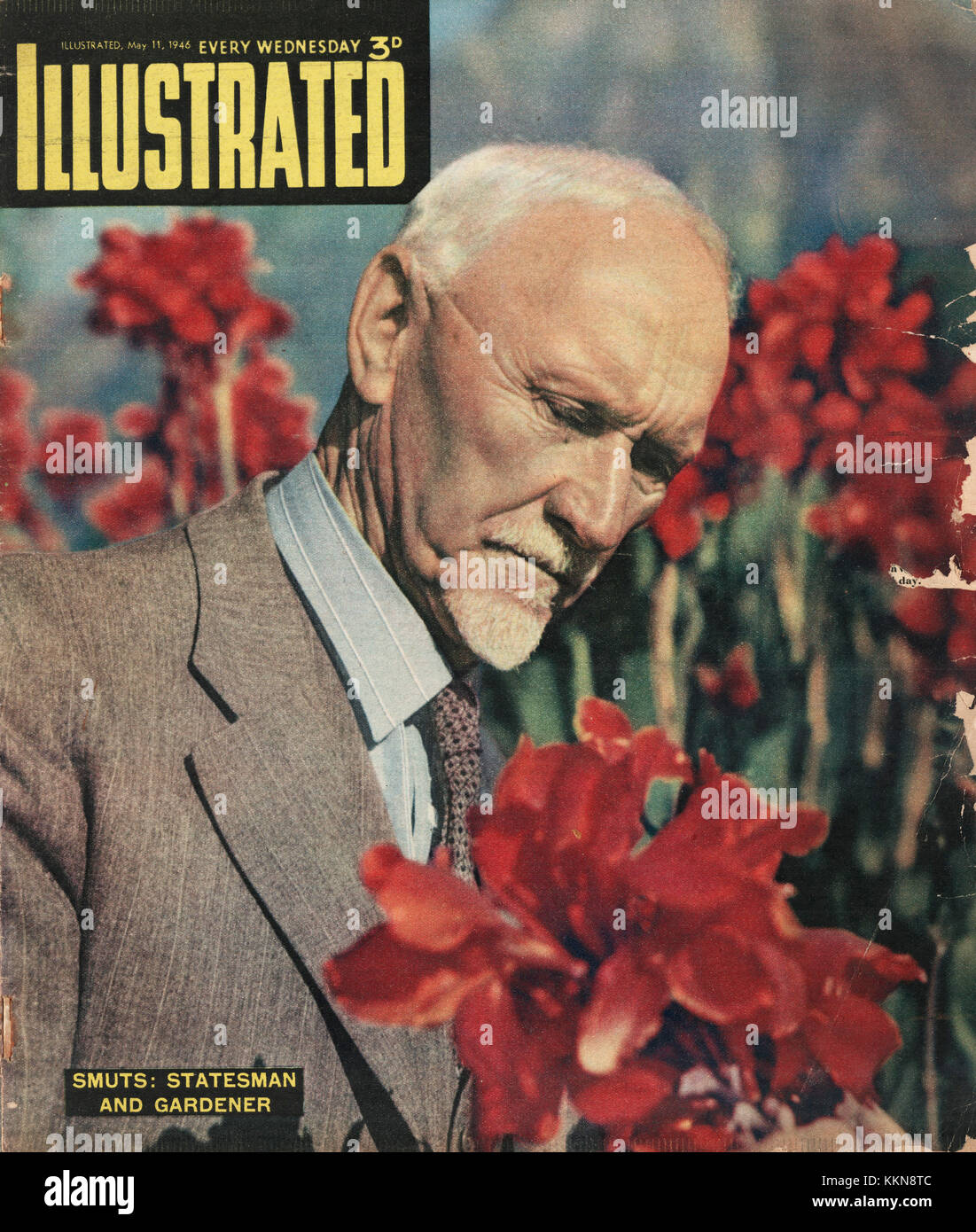 1946 Illustrated Magazine General Smuts - Stock Image