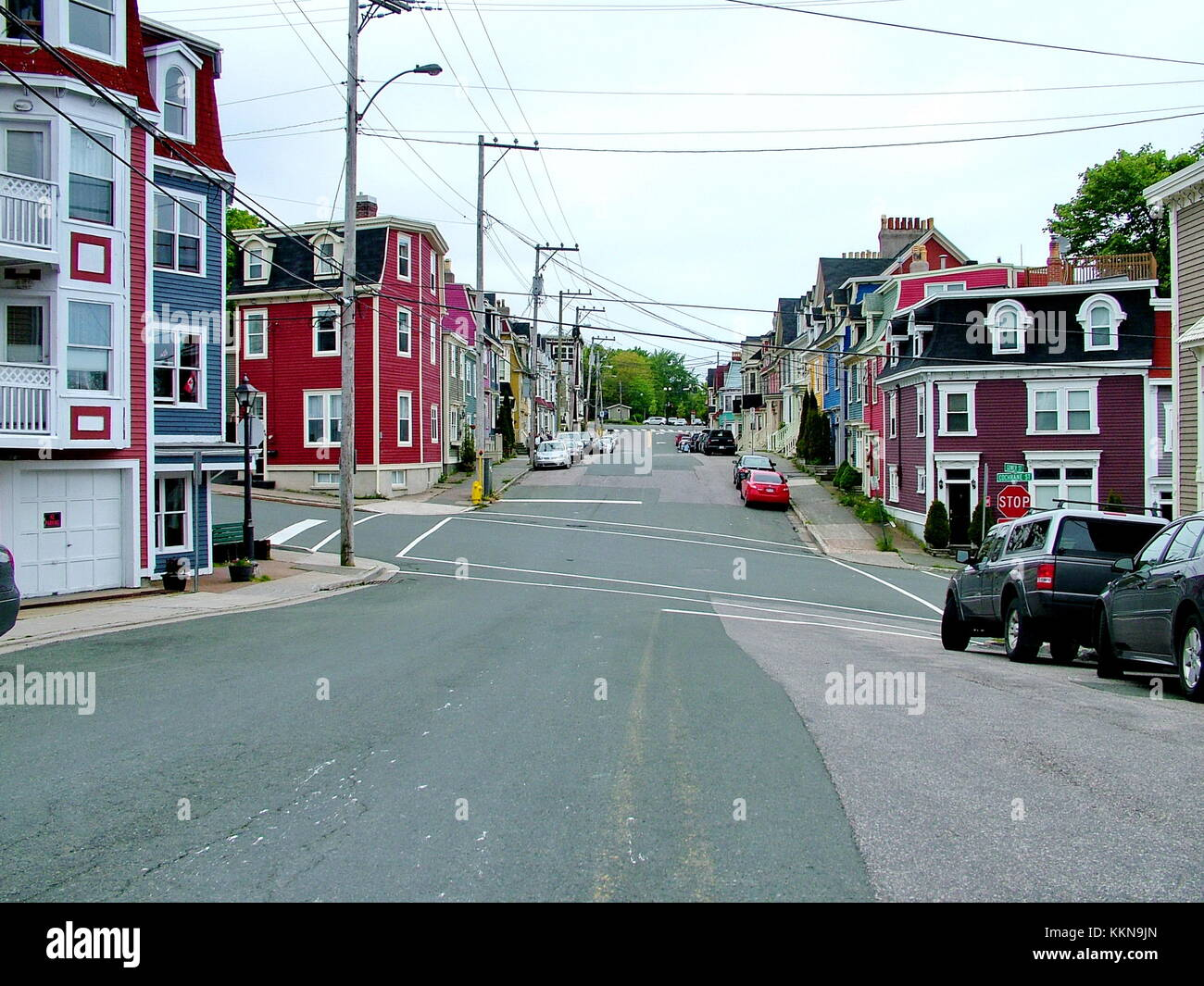 Colorful houses in St. John's, Newfoundland, Canada - Stock Image