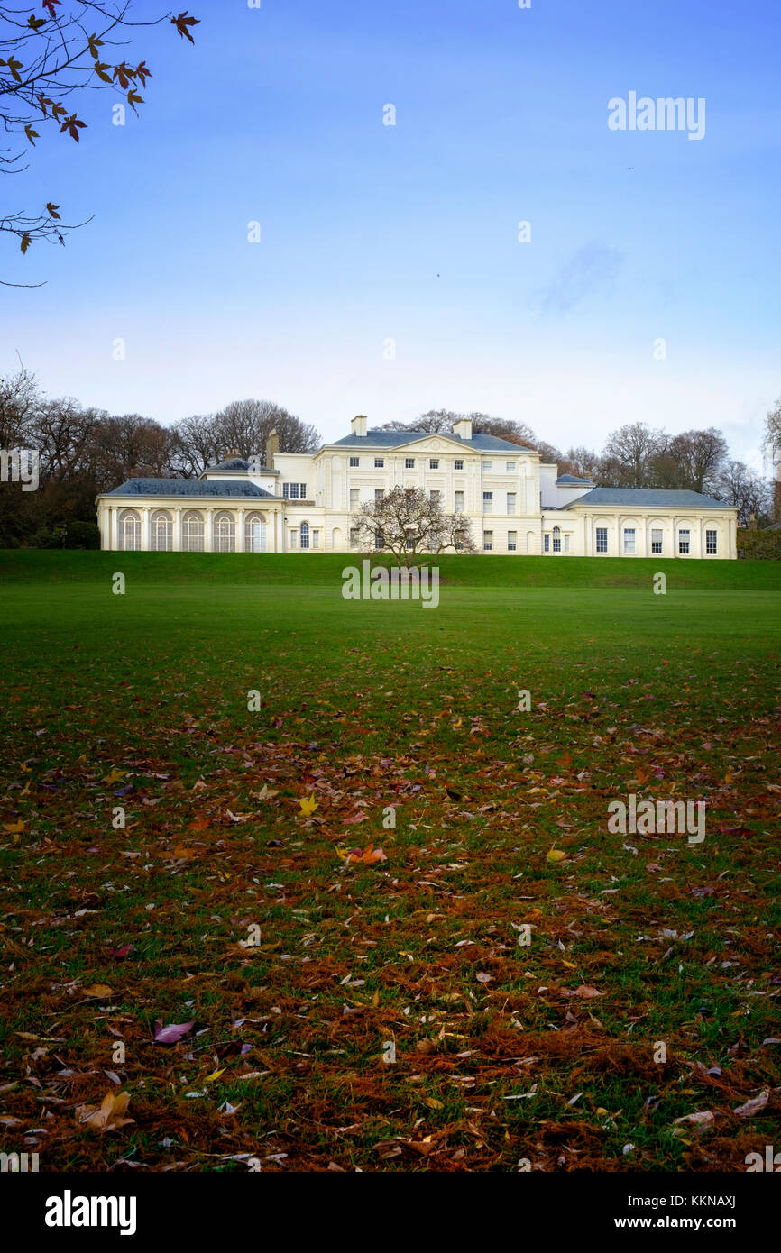 Autumn scenery at Kenwood House, a Georgian stately home and art gallery - designed by architect Robert Adam - Stock Image