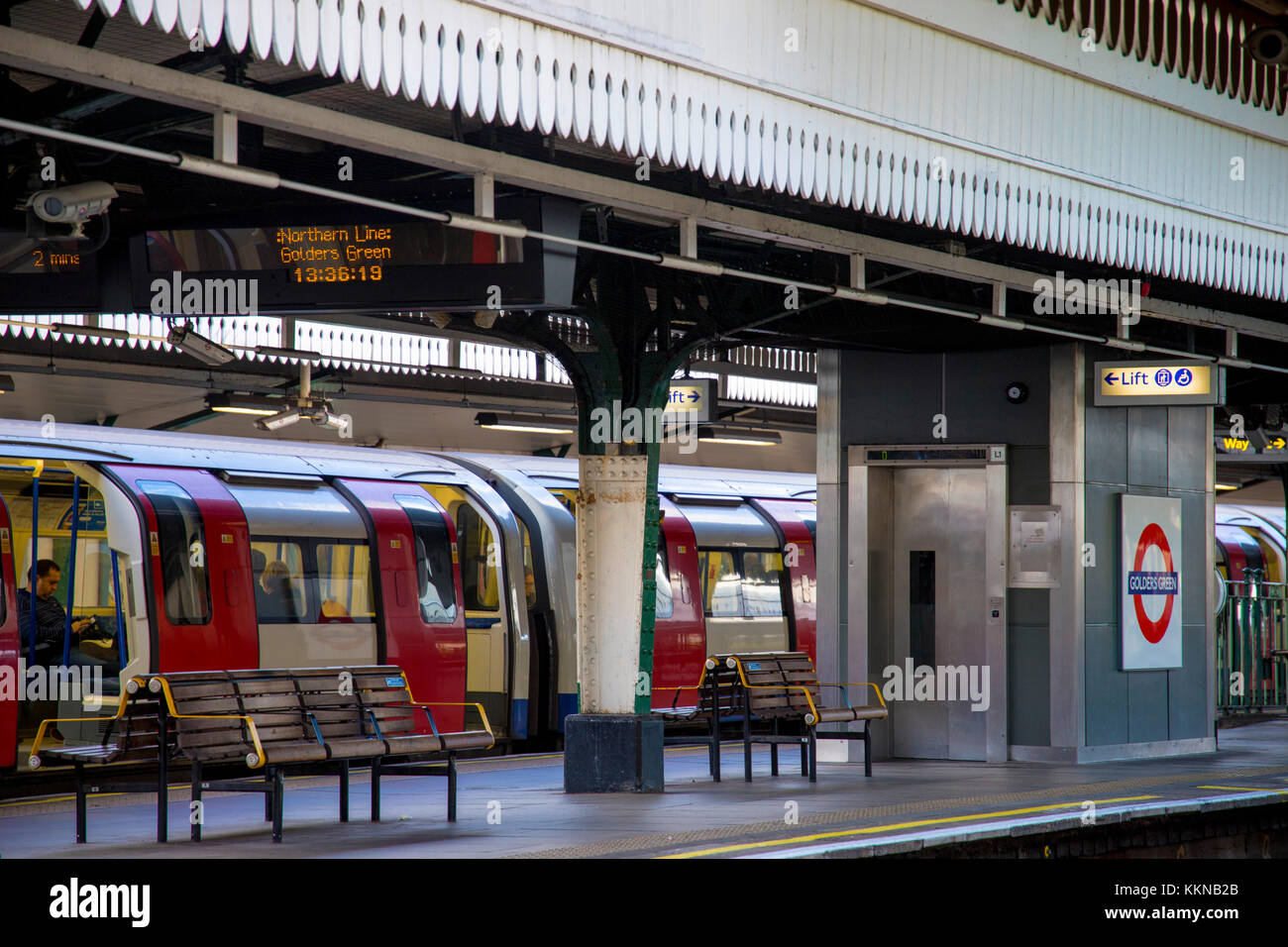Golders Green tube station on London's Northern Line subway network Stock Photo