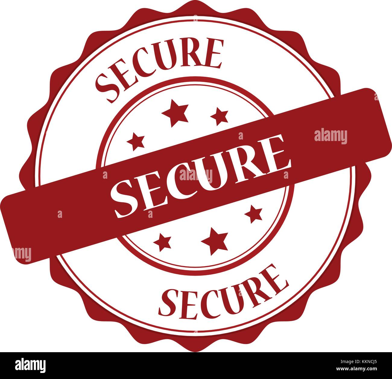 Secure stamp illustration - Stock Image