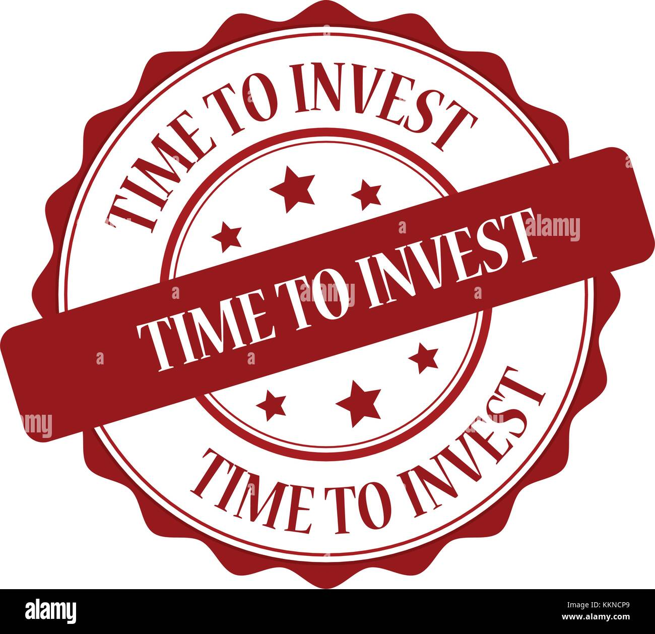 Time to invest stamp illustration - Stock Image