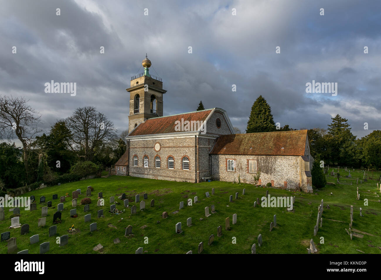 St Lawrence Church,West Wycombe,Buckinghamshire - Stock Image