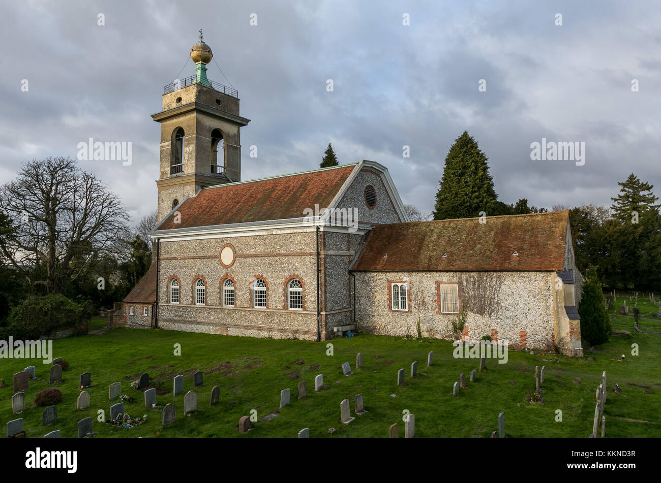 Church of St Lawrence,West Wycombe,Buckinghamshire - Stock Image