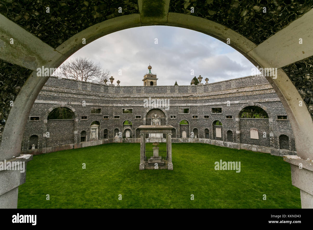 Dashwood Mausoleum,West Wycombe,Buckinghamshire - Stock Image