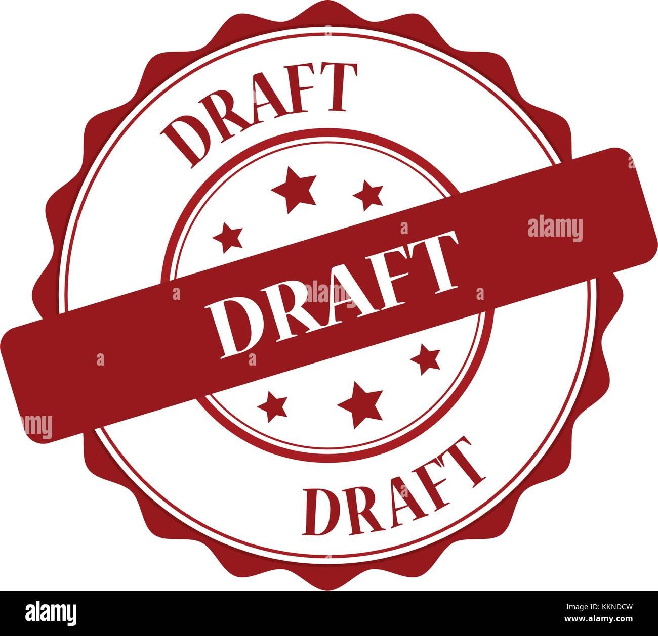 Draft stamp illustration - Stock Vector