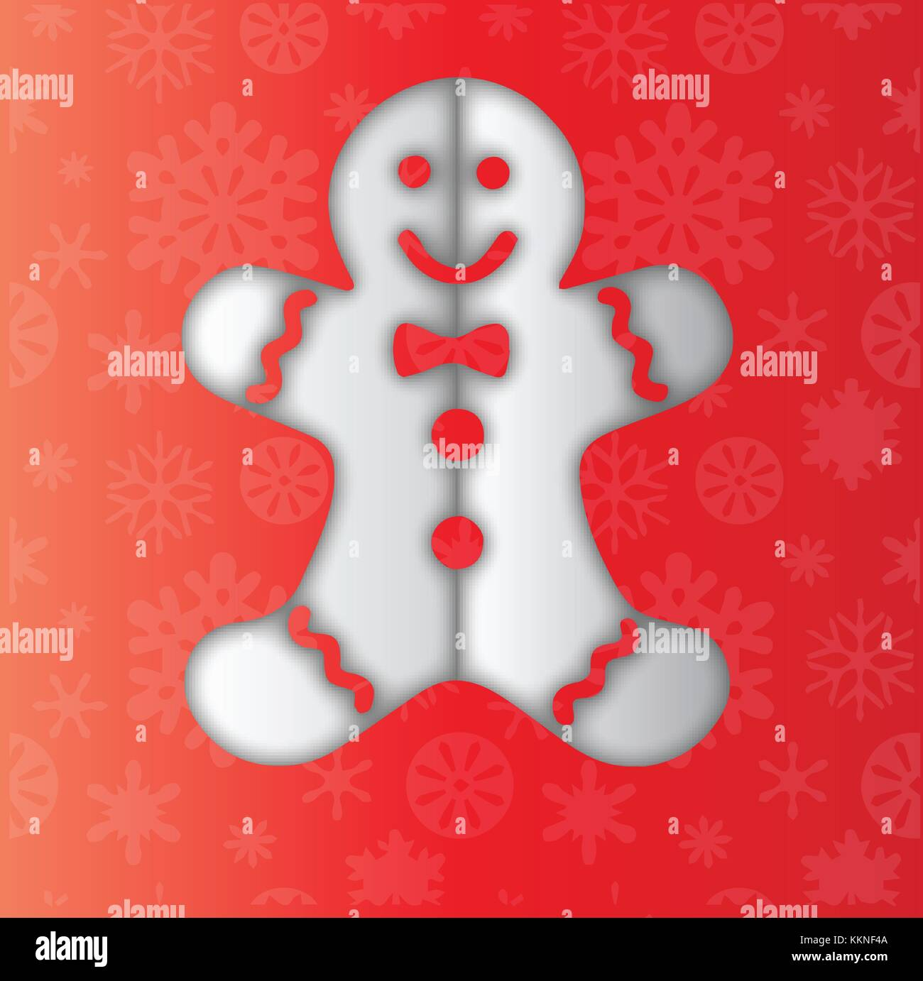 Gingerbread Man Clipart - Stock Image
