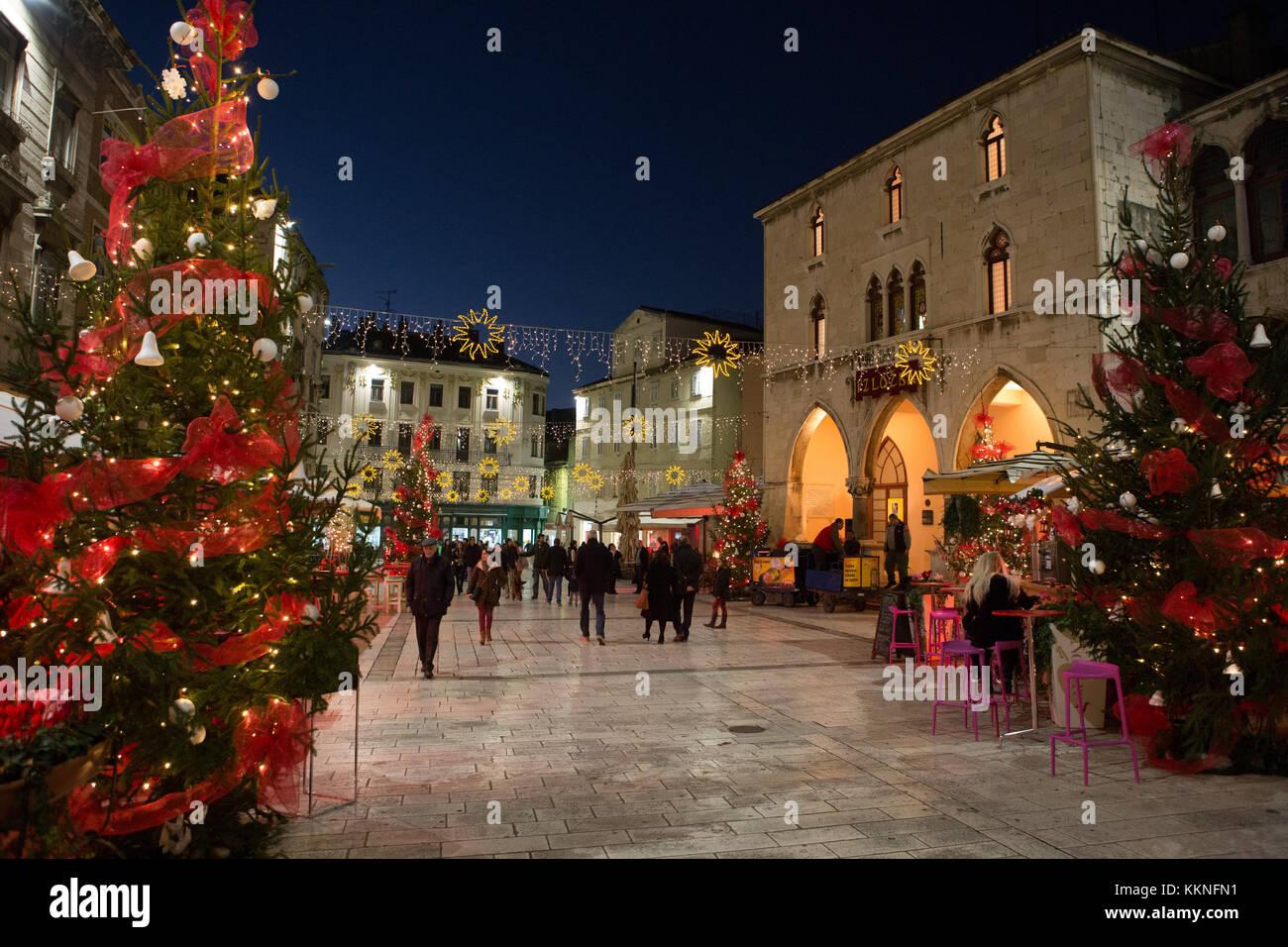 Advent in Split, Croatia. - Stock Image