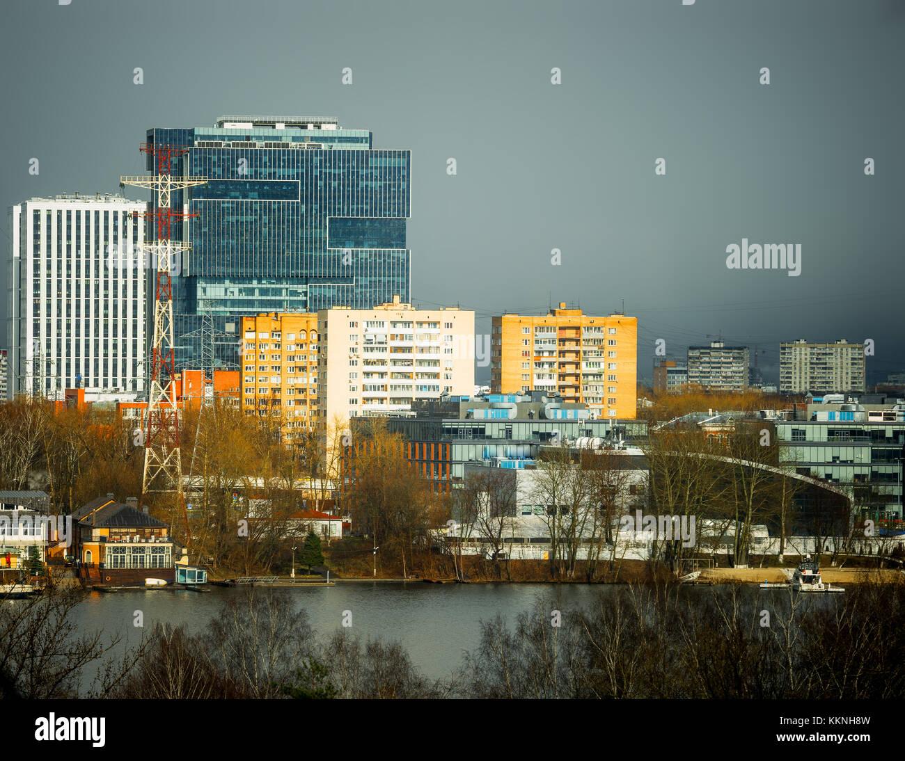 autumnal city Stock Photo
