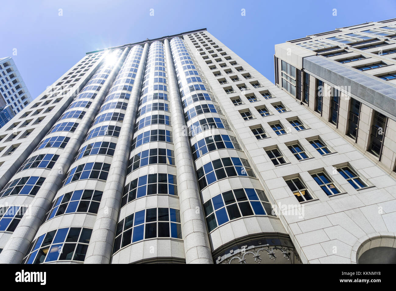 Modern Architecture, Downtown, San Francisco, California, USA - Stock Image