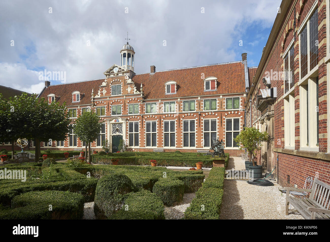 Courtyard of the Franz Hals Museum in Haarlem, North Holland, Netherlands - Stock Image