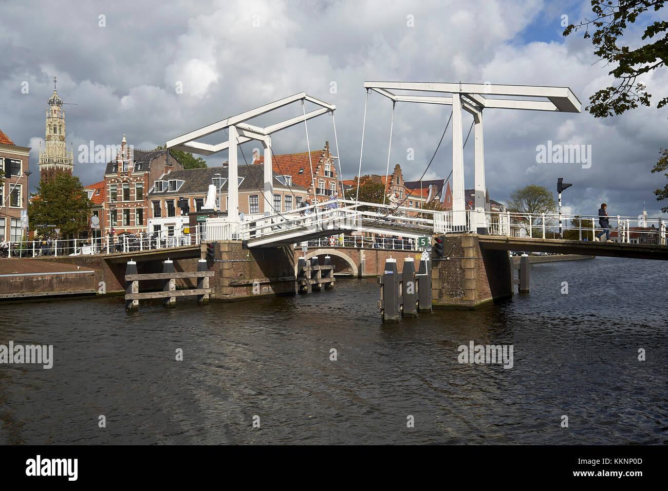 Gravestenenbrug in Haarlem, North Holland, Netherlands - Stock Image