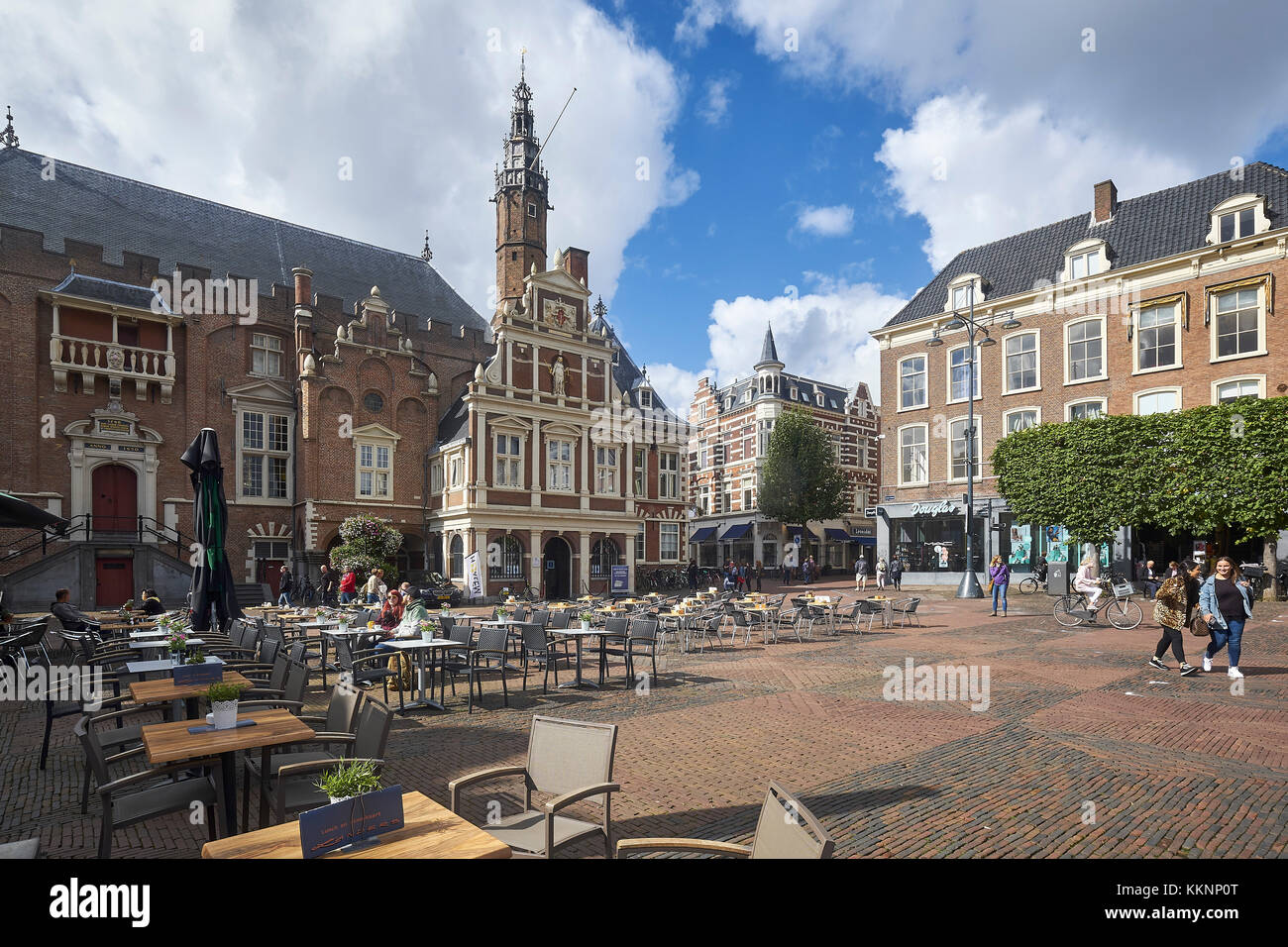 Town Hall at the Grote Markt, Haarlem, North Holland, Netherlands - Stock Image