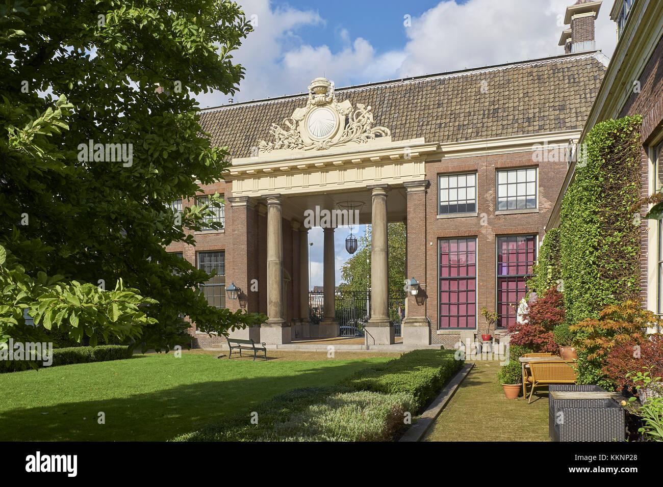 Teylers Hofje, Haarlem, North Holland, Netherlands - Stock Image