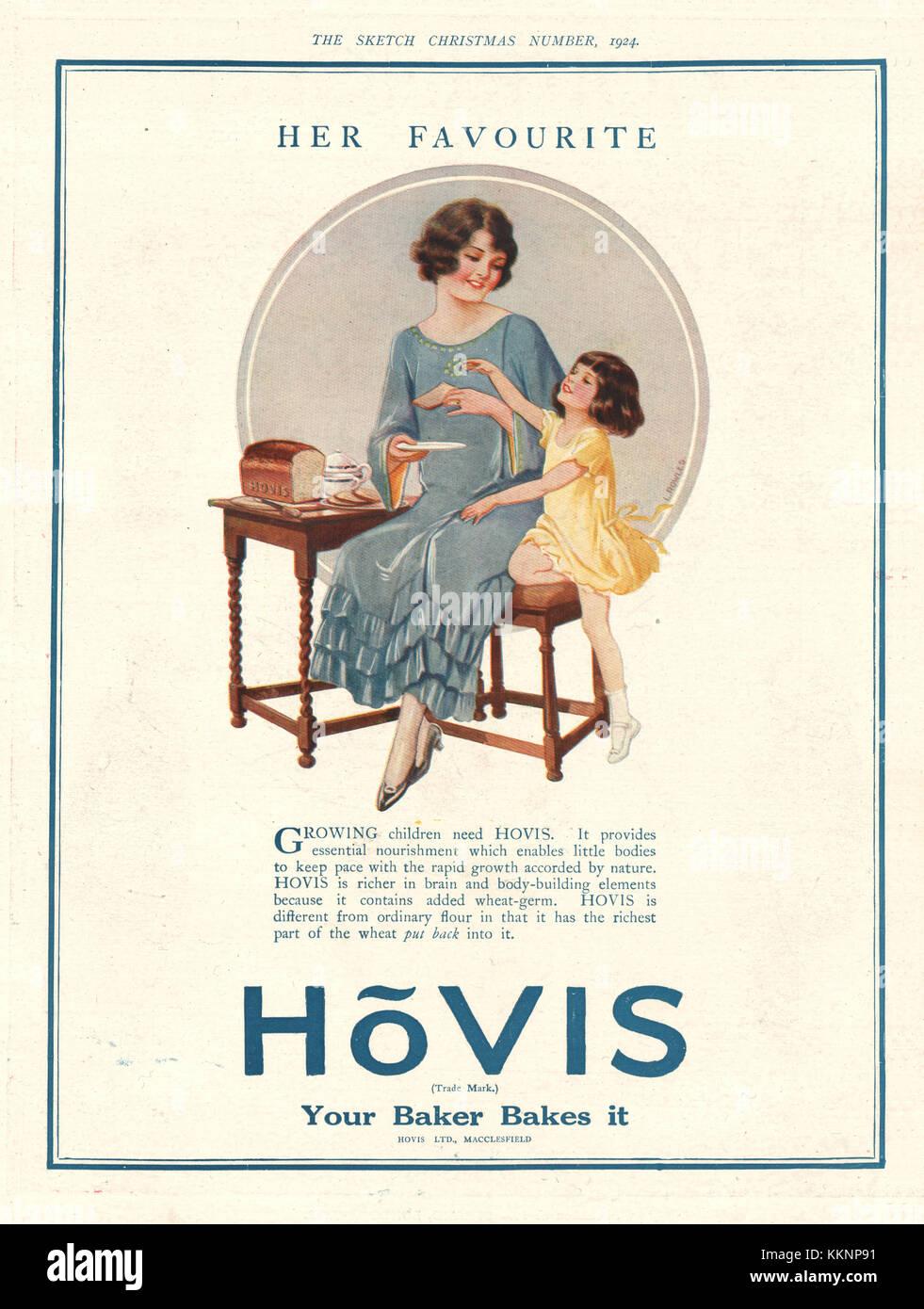 1924 UK Magazine Hovis Advert - Stock Image