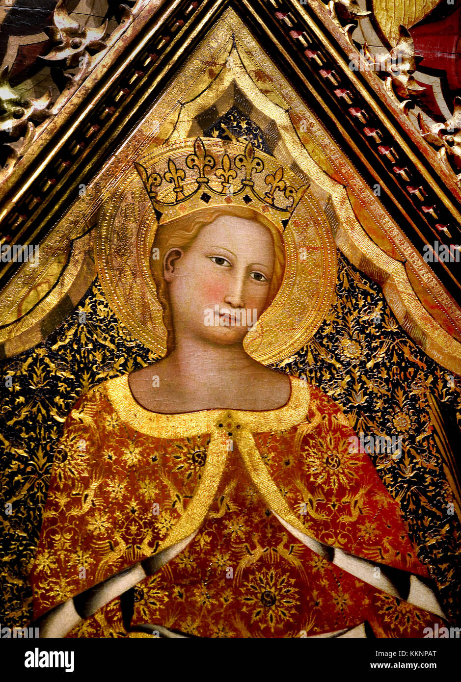 Saint Catherine of Alexandria and Stories of her Life 14th Century  by Giovanni del Biondo (He was active in the Stock Photo