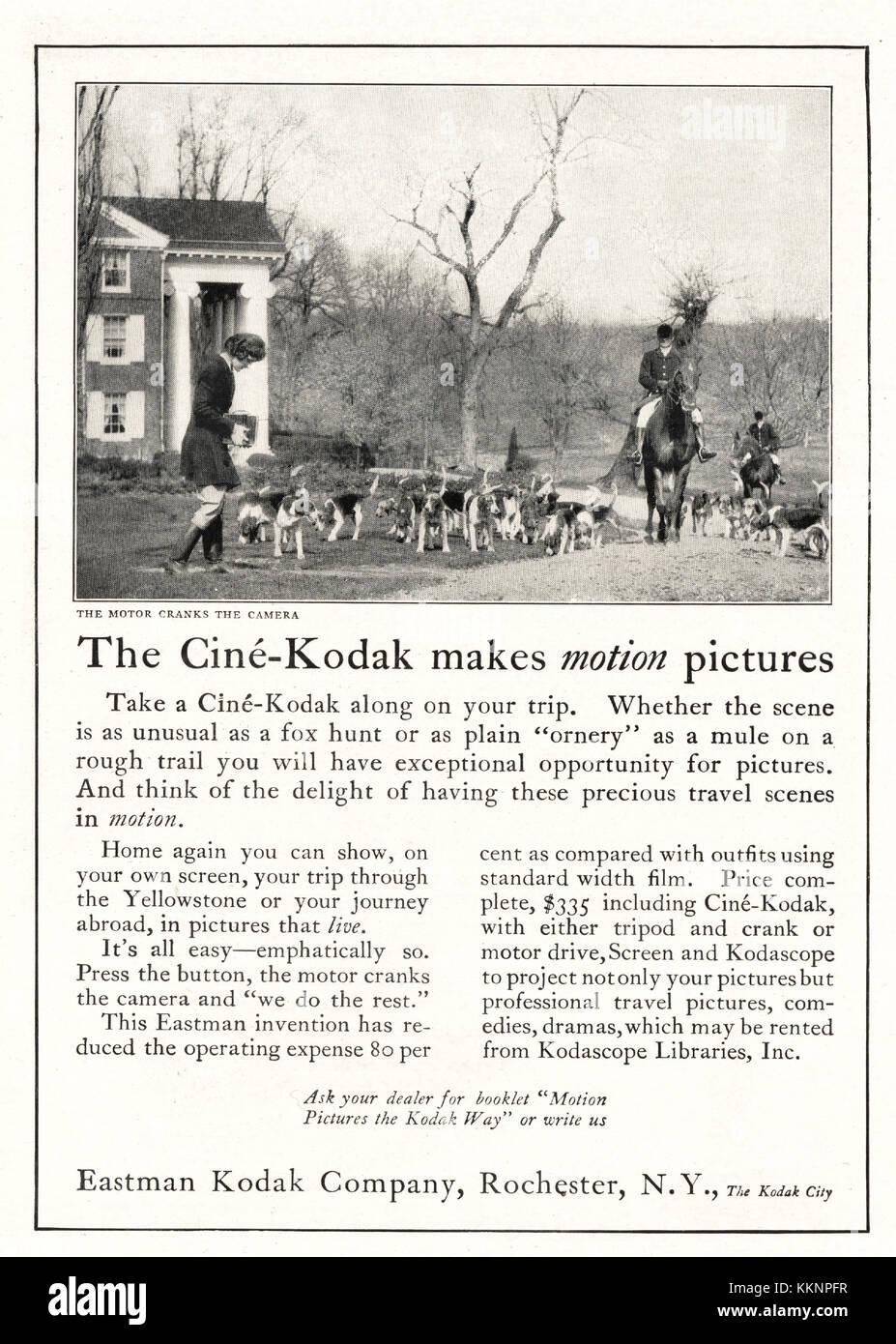 1924 U S  Magazine Cine Kodak Advert Stock Photo: 167050459