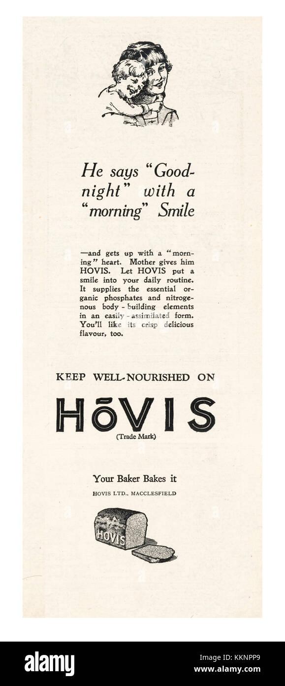 1925 UK Magazine Hovis Advert - Stock Image