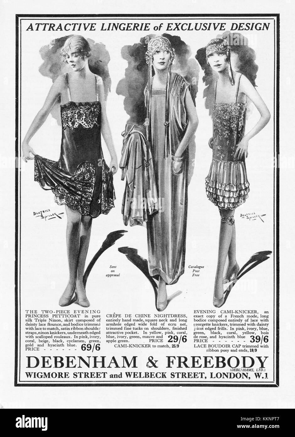 1926 UK Magazine Debenham & Freebody Ladies Fashions Advert - Stock Image