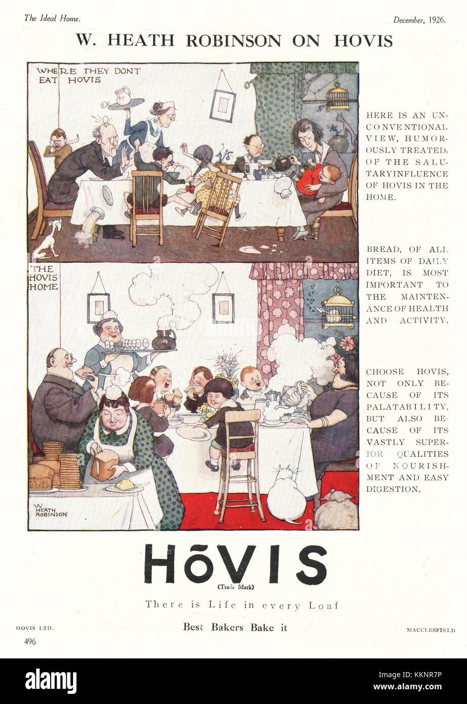 1926 UK Magazine Hovis Advert - Stock Image