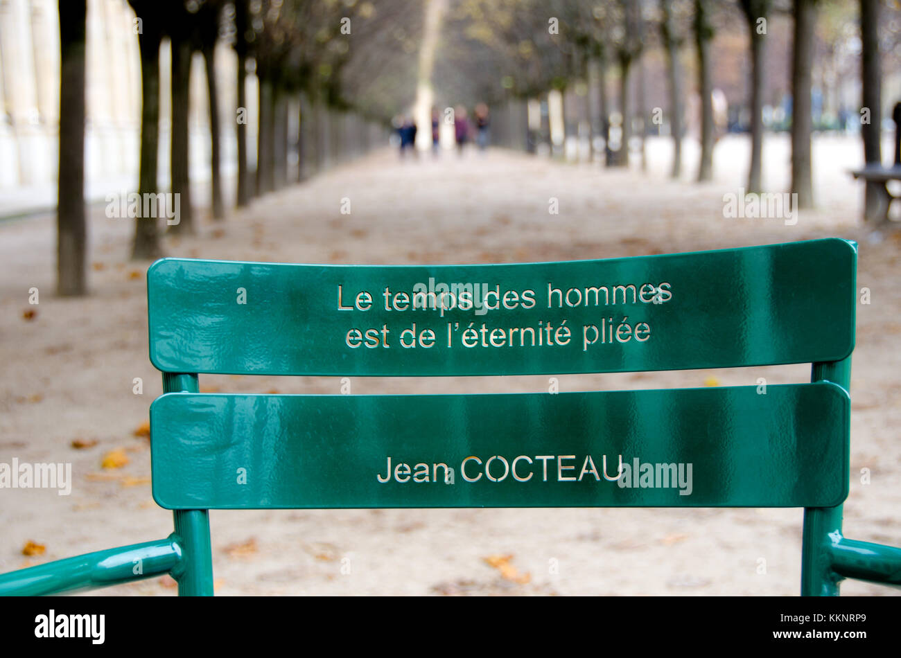 Paris France Palais Royal Green Chair Quotes Cut In The Back Of