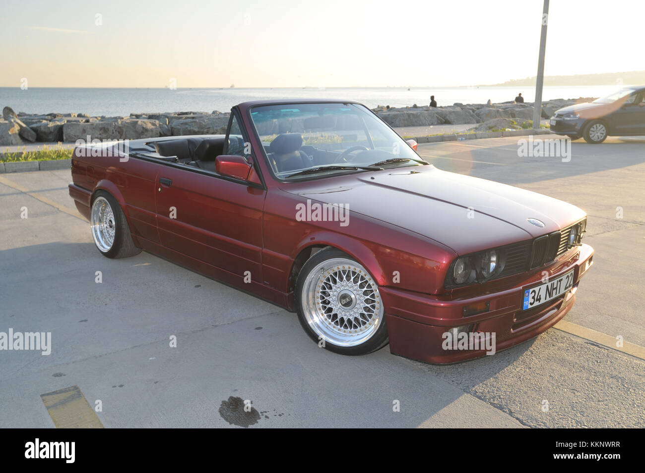Modified Bmw E30 Convertible Lowered On Aftermarket