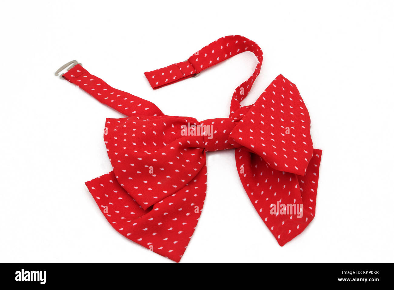 Red Bow Tie with White Spots - Stock Image