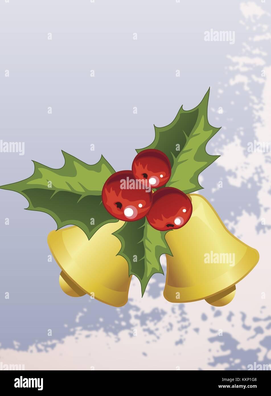 christmas bells clip art - Stock Image