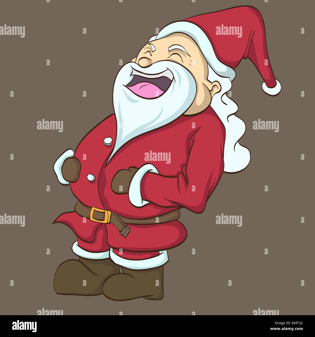 clip art of the happy santa - Stock Image