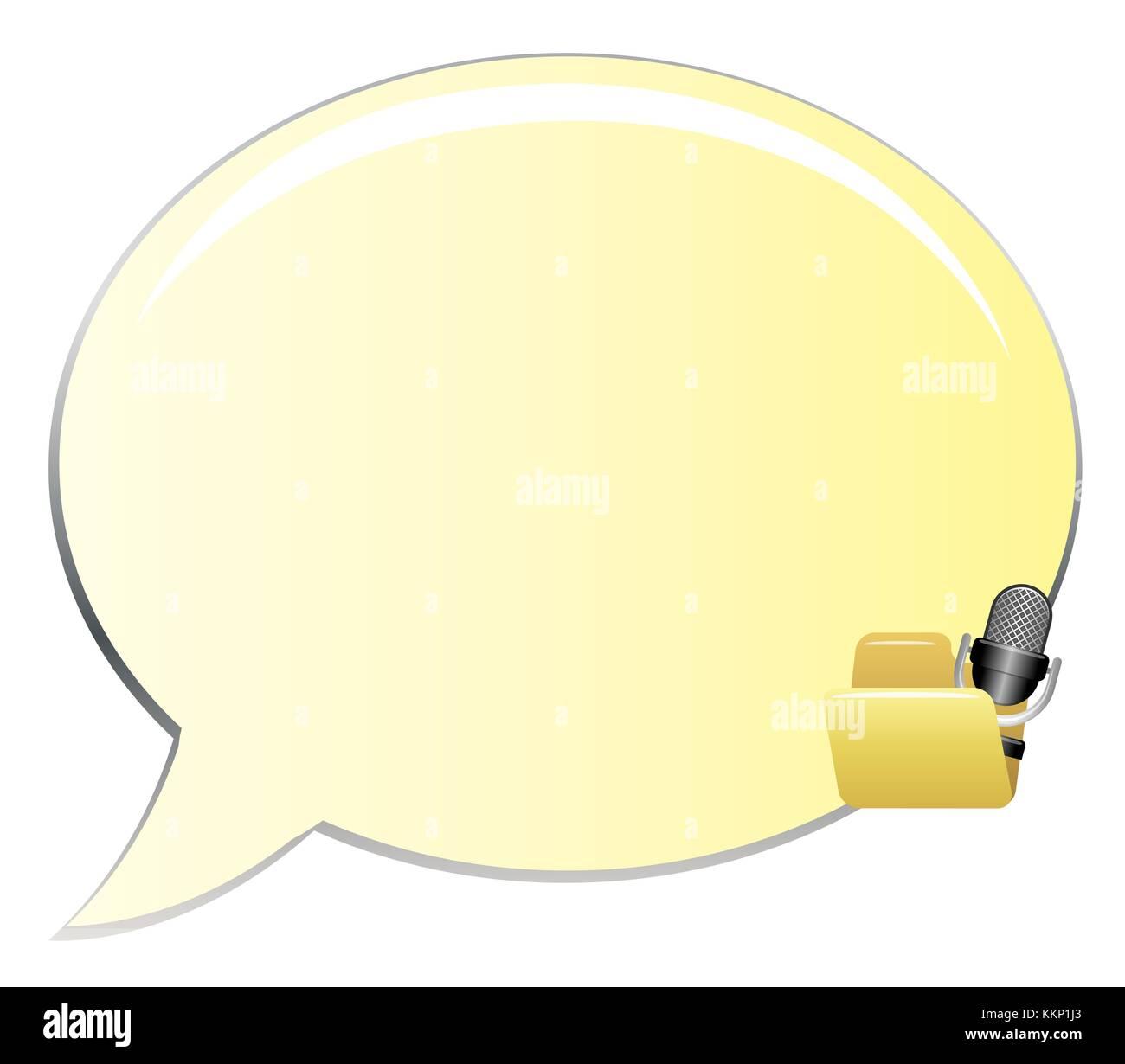 clip art yellow speech bubbles - Stock Image