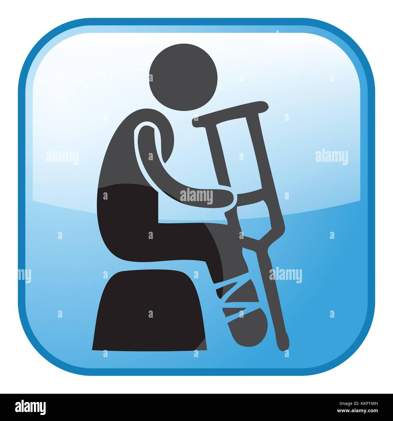 Disability Icons - Stock Image
