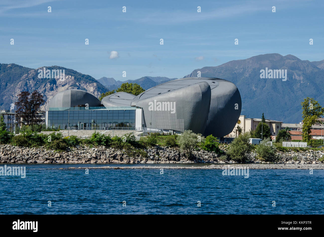 The Multifunctional Cultural Complex (CEM) of Verbania acts as the pivotal start-up of a wider city requalification, - Stock Image