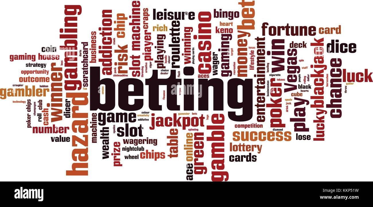 Betting word cloud concept. Vector illustration - Stock Vector