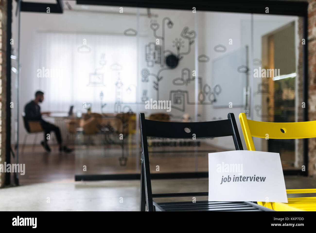 Job recruiter waiting for candidates - Stock Image