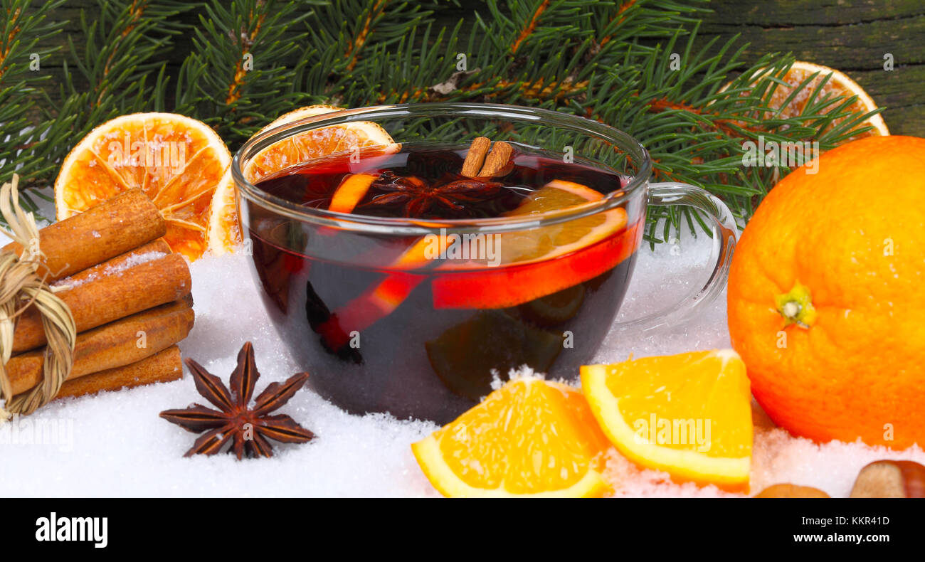 Invitation for mulled wine - Stock Image