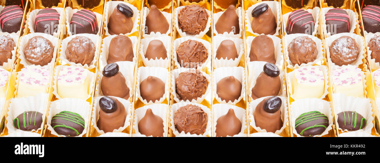 Chocolates, candy, truffle, high-resolution - Stock Image