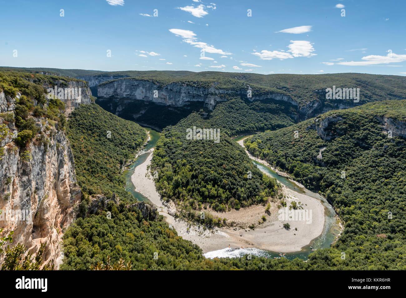 France,  Rhône-Alpes, Ardèche, Saint-Martin-d'Ardèche, Gorges de l'Ardèche, view of - Stock Image