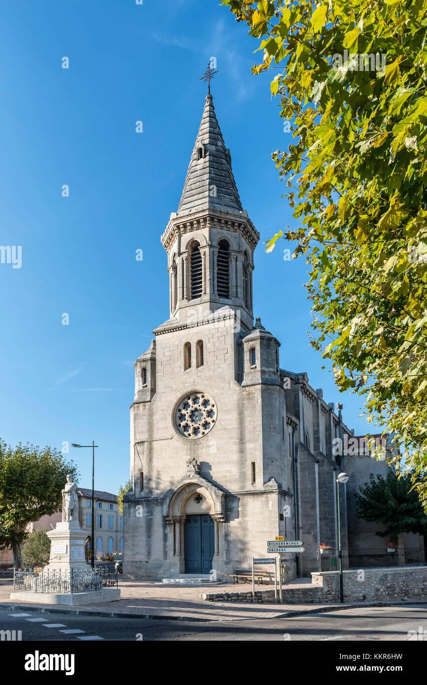 Montségur-sur-Lauzon, Drôme, France, 'Les Barquets' Late-Romanesque chapel in Montségur-sur - Stock Image