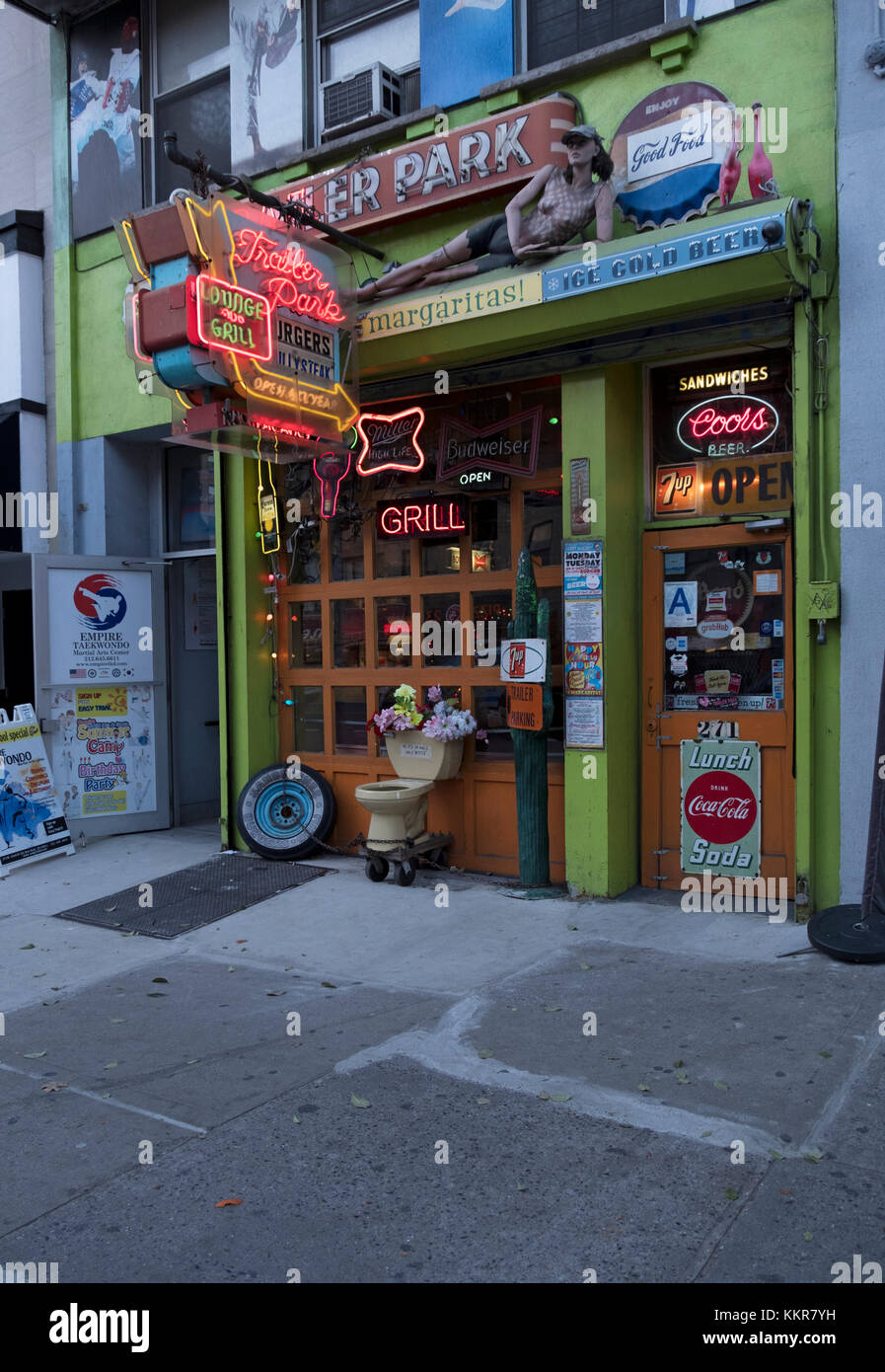 The unique and quirky exterior of The Trailer Park Lounge on west 23rd Street in Chelsea, Manhattan, New York City. Stock Photo