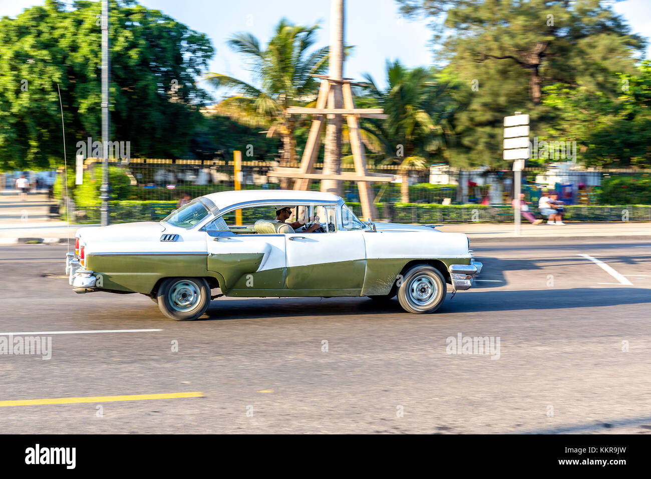 Cuba is the largest island in the Caribbean, with an area of 109,884 square kilometres, and the second-most populous - Stock Image